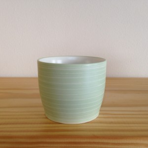 Theetas parel groen/Tea cup pearl green